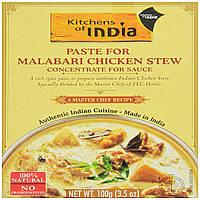 Kitchens of India, Паста для тушеной курицы Malabari, 3.5 унции (100 г)