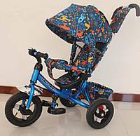Детский велосипед трехколесный TILLY Trike T-363-3 ГОЛУБОЙ