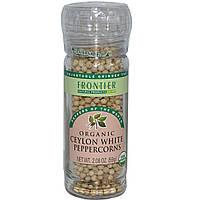 Frontier Natural Products, Органический цейлонский белый перец горошком, 2,08 унции (59 г)