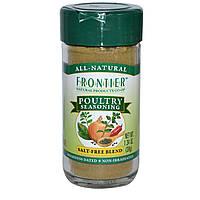 Frontier Natural Products, Приправа к мясу домашней птицы, бессолевая смесь, 1,34 унции (38 г)