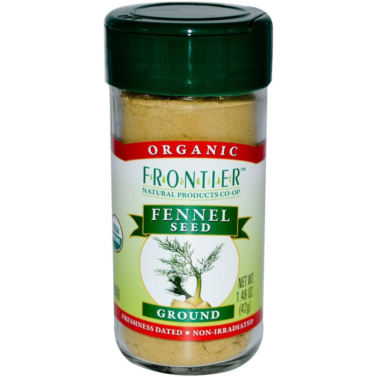 Frontier Natural Products, Органические молотые семена фенхеля, 1,48 унции (42 г) - Интернет-магазин для здоровой жизни в Киеве