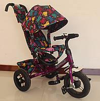 Велосипед 3-х колесный с родительской ручкой TILLY Trike T-363-5 ФИОЛЕТОВЫЙ