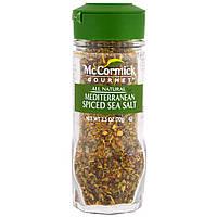 McCormick Gourmet, All Natural, Mediterranean Spiced Sea Salt, 2.5 oz (70 g)