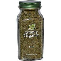 Simply Organic, Базилик, 0,54 унции (15 г)