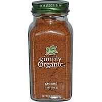 Simply Organic, Молотый мускатный орех, 2,30 унции (65 г)