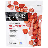 Crunchies Food Company, Сублимированная клубника, 1 унция (28 г)