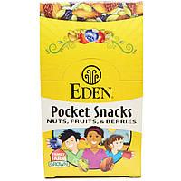 Eden Foods, Pocket snacks, органическая сушеная клюква, 12 пакетиков, 1 унция (28,3 г) каждый