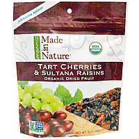 Made in Nature, Органические сухофрукты, кислая вишня и изюм султана, 5 унций (142 г)