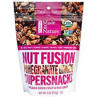 Made in Nature, Органический суперснек с орехами Nut Fusion, имбирь-гранат, 4 унции (113 г)