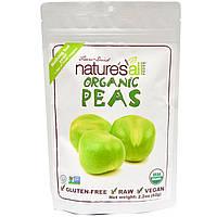 Natierra Natures All , Foods, Сублимированный органический зеленый горошек, 2.2 унций (62 г)
