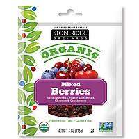 Stoneridge Orchards, Органическая смесь ягод, 4 унции (113 г)