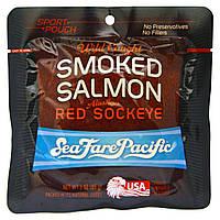 Sea Fare Pacific, Питание для спортсменов Копченый лосось, из Аляскинской Красной нерки, 3 унции (85 г)