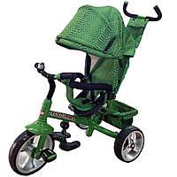 Велосипед 3-х колесный с родительской ручкой TILLY ZOO-TRIKE T-342 GREEN