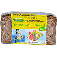 Mestemacher, Хлеб из трех злаков с цельными зернами ржи, 17.6 унций (500 г)