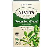 Alvita Teas, Органический зеленый чай, без кофеина 24 чайных пакетиков, 1.52 унции (43 г)