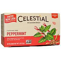 Celestial Seasonings, Травяной чай, Перечная мята, Без кофеина, 20 чайных пакетиков, 1,1 унции (32 г)