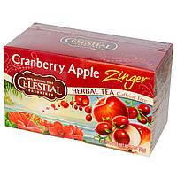 Celestial Seasonings, Травяной чай без кофеина c клюквенно-яблочным вкусом, 20 чайных пакетиков, 1.5 унции (42 г)