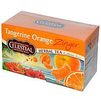 Celestial Seasonings, Травяной чай без кофеина Zinger, Мандариново-апельсиновый заряд, 20 чайных пакетиков, 1,7унции (47г)