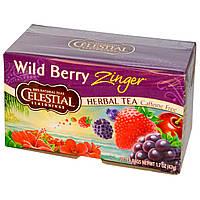 Celestial Seasonings, Травяной чай, Без кофеина, Лесная ягода Зингер, 20 чайных пакетиков, 1,7 унции (47 г)