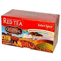 Celestial Seasonings, Красный чай, специи Сафари, кофе без кофеина, 20 пакетиков, 1,5 унции (43 г)