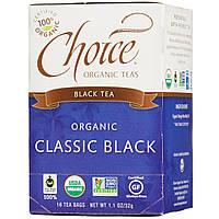 Choice Organic Teas, Органический классический черный чай, 16 чайных пакетиков, 1,1 унции (32 г)