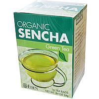 Eden Foods, Organic, зеленый чай сенча, 16 пакетиков,.24 г