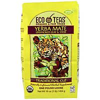 Eco Teas, Yerba Mate, листья и стебли (без тепловой обработки), 16 унции (445 г)