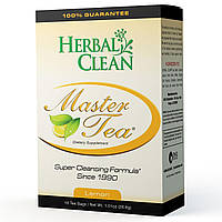 Herbal Clean, Master Tea, Формула для похудения, со вкусом лимона, 16 чайных пакетиков, 1.01 унций (28.8 г)