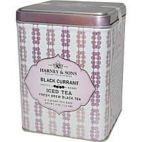 Harney & Sons, Холодный черный чай свежей заварки, черная смородина, 6 пакетиков на 2 кварта, 0,11 г (3 унции)