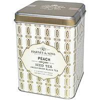 Harney & Sons, Заварка для чая со льдом, черный чай, с ароматом персика, 6 - 2 Quart чайных пакетиков, 3 унции