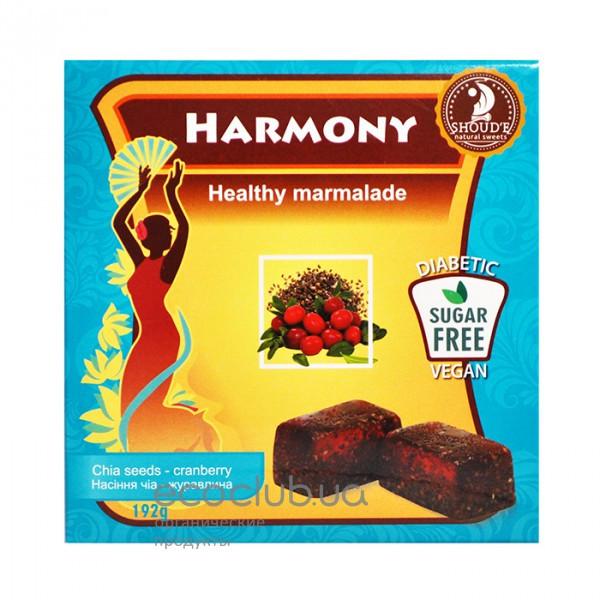 Мармелад Harmony Семена чиа - клюква SHOUD`E 192г