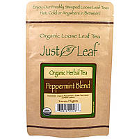 Just a Leaf Organic Tea, Peppermint Blend, Loose Leaf Tea, With Refreshing Green Tea Leaves, 100% Pure, No GMOs, 2 oz (56 g), фото 1