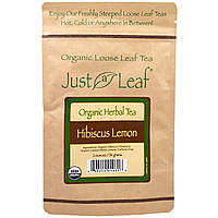 Just a Leaf Organic Tea, Hibiscus Lemon, Loose Leaf Tea, Warm Citrus Flavor, 100% Pure, No GMOs, 2 oz (56 g)