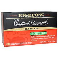 Bigelow, Черный чай, Constant Comment, без кофеина, 20 пакетиков, 1,18 унции (33 г)