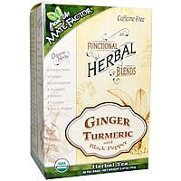 Mate Factor, Organic Functional Herbal Blends, Ginger Turmeric with Black Pepper, 20 Tea Bags, 2.47 oz (70 g)