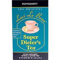 Natrol, Laci Le Beau, супер диетический очищающий чай с перечной мятой, 30 пакетиков, 2,63 унции (75 г)