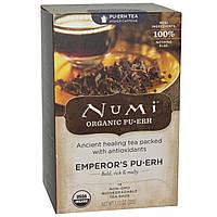 Numi Tea, Органический императорский чай Пу-Эр, 16 чайных пакетиков