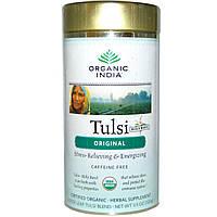 Organic India, Оригинальный листовой чай Туласи без кофеина, 3,5унции (100г)