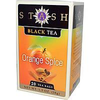 Stash Tea, Черный чай высшего сорта, апельсин и пряности, 20 чайных пакетиков, 1,3 унции (38 г)