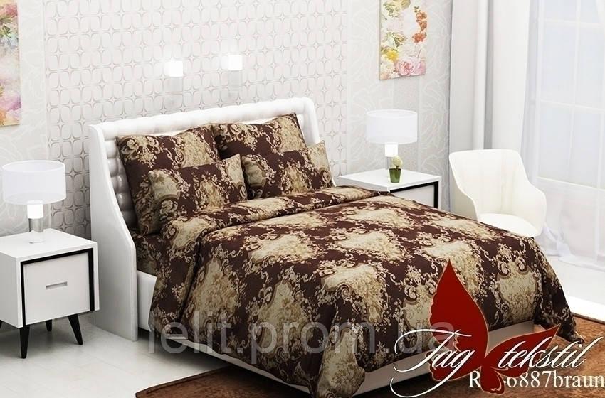 Двуспальный комплект постельного белья RC6887braun