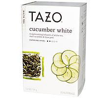Tazo Teas, Белый чай с огурцом, 20 фильтр-пакетов, 1,2 унции (34 г)