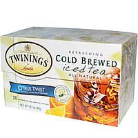 Twinings, Холодный чай, Цитрус, 20 чайных пакетиков, 1.41 унций (40 г