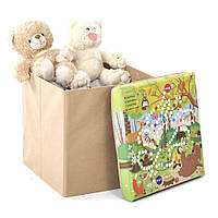 Детский пуф для хранения игрушек Лес