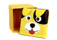 Детский пуфик для хранения игрушек собачка 30х30 см