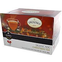 Twinings, Рождественский чай, черный чай, 12 чашек, 3,2 г (0,11 унции) каждая