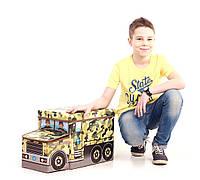 Пуфик кресло для игрушек Военная машина