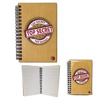 Блокнот с гравировкой Top Secret-Красный 95*144мм