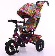 Велосипед с родительской ручкой 3-х колесный TILLY Trike T-363-2 ФИОЛЕТОВЫЙ