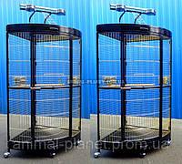 Вольер - клетка угловой с игровым стендом для больших попугаев, белок, приматов, хищных птиц №5