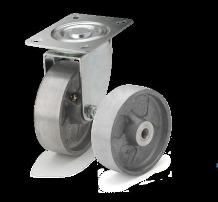 Алюминиевые термостойкие колеса. Нагрузка 150 - 160 кг. t -50/+400С. Серия 71
